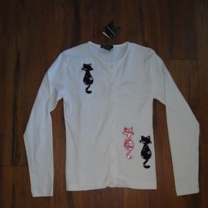 Sweaters - Cat Lady Buttondown sweater